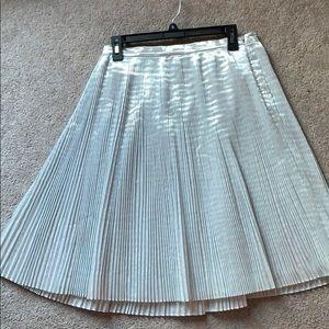 NWOT Talbots metallic pleated skirt